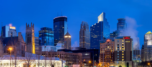 Minneapolis, Skyline, Minnesota, America