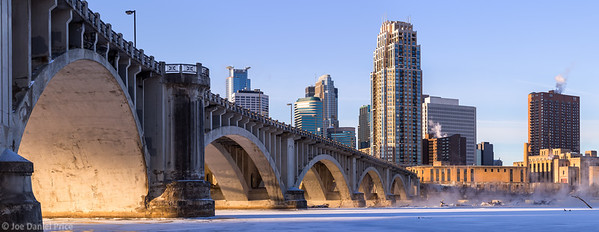 Sunrise, Arches, Central Avenue Bridge, Minneapolis, Minnesota, America