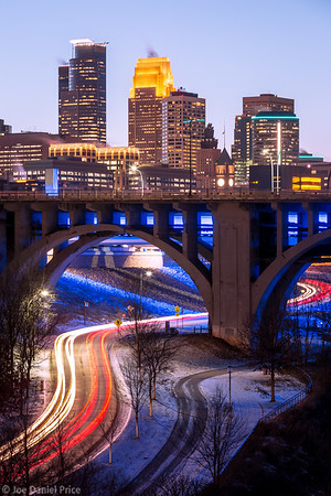 Light Trails, Minneapolis, Minnesota, America