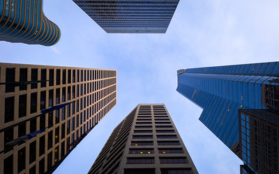 Office Buildings, Looking Up, Minneapolis, Minnesota, America