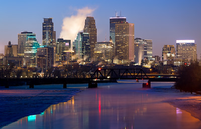 Blue Hour, Minneapolis, Minnesota, America