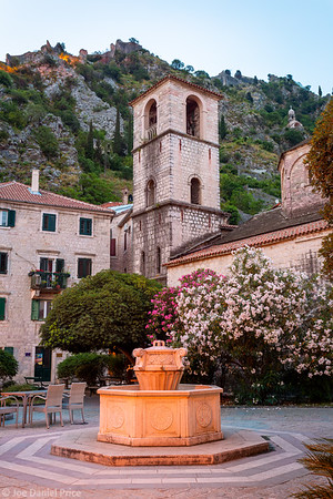Early Morning, Church of St Mary Collegiate, Kotor, Old Town, Montenegro