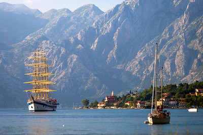 Sail Ship, Bay of Kotor, Kotor, Montenegro