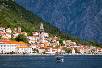 Little Boat, Perast, Skyline, Bay of Kotor, Montenegro