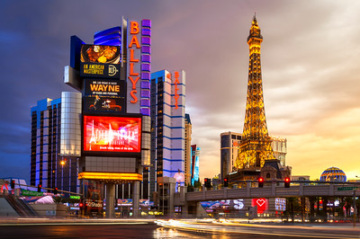 Replica Eiffel Tower, Las Vegas, The Strip, Nevada, America