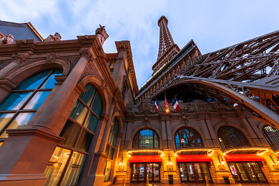 Looking Up, Replica Eiffel Tower, Paris, Las Vegas, Nevada, America