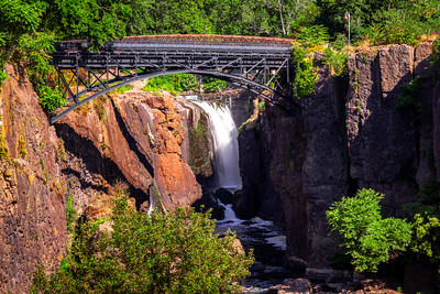 Paterson Great Falls National Historical Park, Passaic River, Paterson, New Jersey, America
