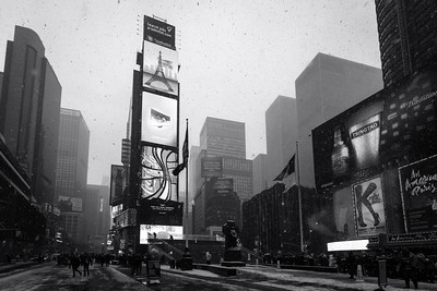 Black and White, Times Square, New York City, New York, America