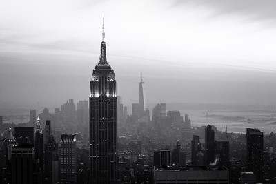 Black and White, Empire State Building, New York City, New York, America