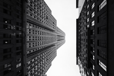 Black and White, Looking Up, Empire State Building, New York City, New York, America