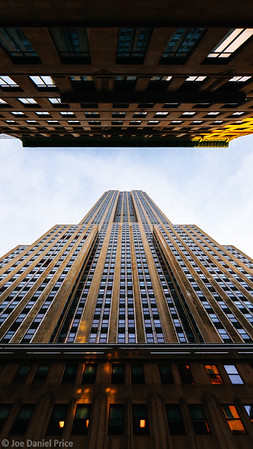 Looking Up, Empire State Building, New York City, New York, America
