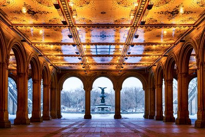 Bethesda Fountain in Central Park, New York City, New York, America