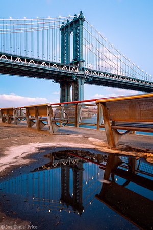 Manhattan Bridge, Reflection, New York City, New York, America