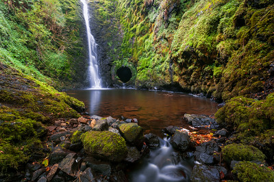 Woodburn Waterfall, South Woodburn Reservoirs, Carrickfergus, County Antrim, Northern Ireland