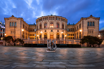 Storting Building, Parliament of Norway, Oslo, Norway