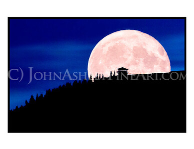 """Huckleberry Moon"" note card"