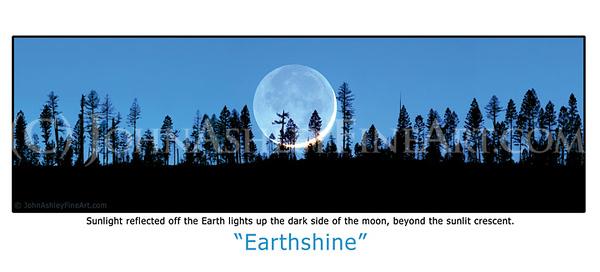 """Earthshine"" post card"
