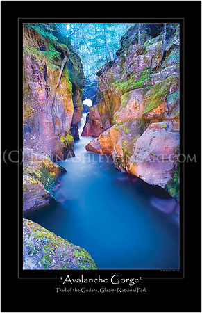 """""""Avalanche Gorge"""" poster"""