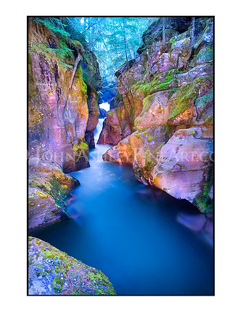 """Avalanche Gorge"" note card"
