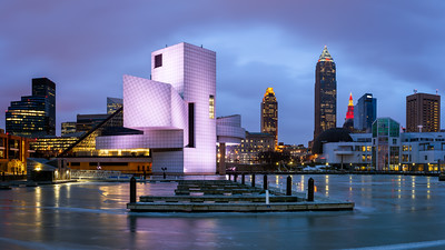 Rock & Roll Hall of Fame, Lake Erie, Cleveland, Ohio, America