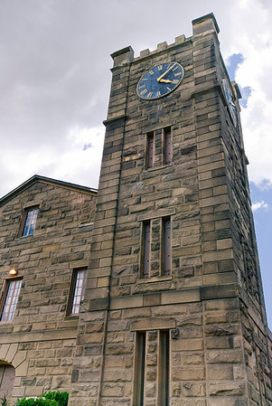 The first stone fortress in the far west. Originally had two towers, but following an accidental explosure in 1912, it was rebuilt with only one tower and the present clock was installed. Buring the building's history, it has served as a chapel, munitions depot, and as a National Guard Armory.