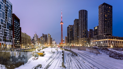 CN Tower, Bathurst Bridge, Toronto, Ontario, Canada