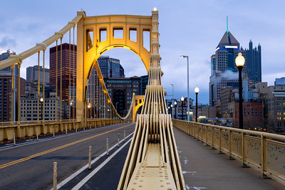 Cables, Roberto Clemente Bridge, Allegheny River, Pittsburgh, Pennsylvania, America