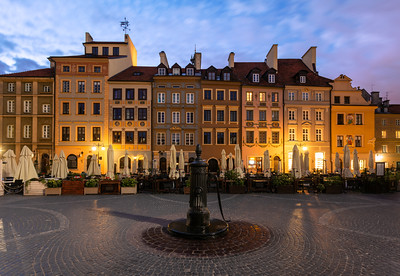 Beautiful Houses, Old Town, Warsaw, Poland