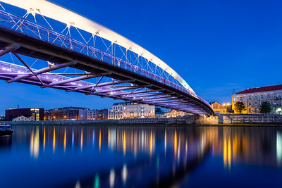 Blue Hour, The Bridge Of Locks, Krakow, Poland