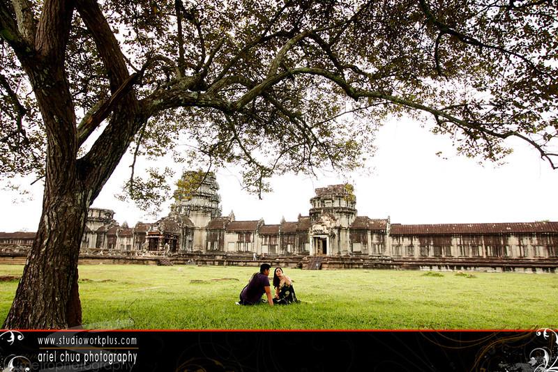 Engagement Shoot Angkor Wat, Cambodia