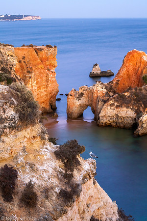 Natural Arch, Sea Arch, Prainha, Alvor, Algarve, Portugal