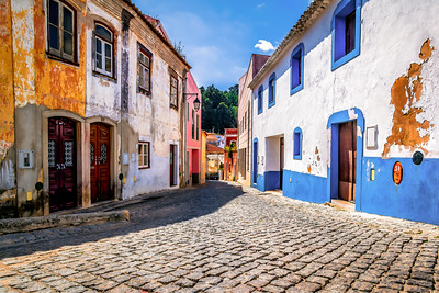 Colourful Houses in Monchique, Algarve, Portugal
