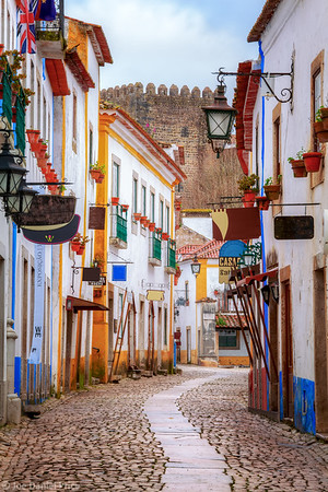 Early Morning on the Streets at Obidos, Portugal