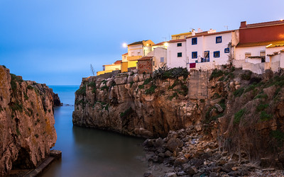 Colourful Houses at Peniche, Portugal
