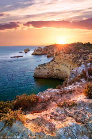 Sunset Prainha Coastline, Alvor, Algarve, Portugal