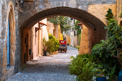 City Streets, Rhodes Old Town, Rodos, Rhodes, Greece