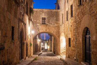 Street of the Knights of Rhodes, Rhodes, Greece