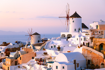 Windmills, Oia, Santorini, Greece