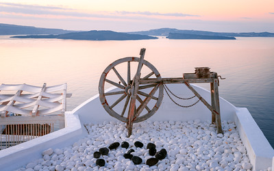 Spinning Wheel, Oia, Santorini, Greece