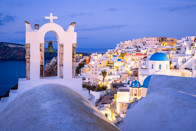 Skyline, Oia, Santorini, Greece