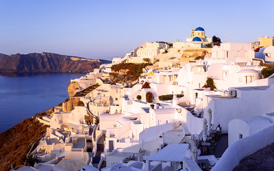 Sunrise, Panorama, Oia, Santorini, Greece