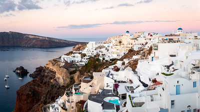 Large Panorama, Oia, Santorini, Greece