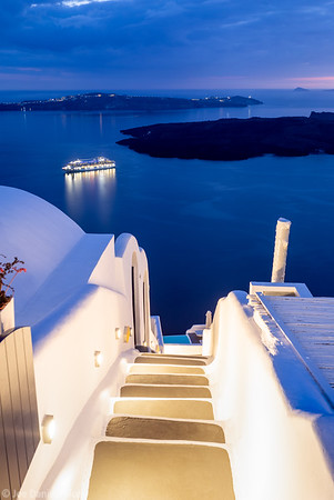 Steps, Oia, Santorini, Greece