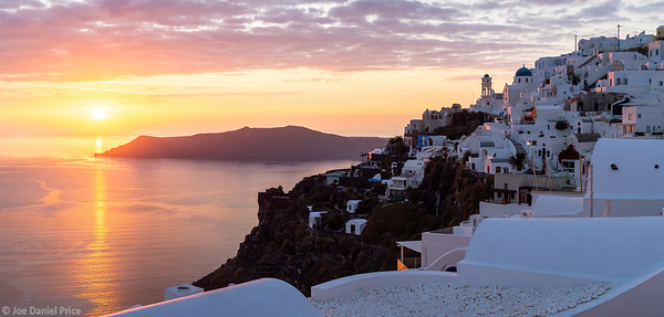 Dramatic Sunset, Fira, Thira, Santorini, Greece