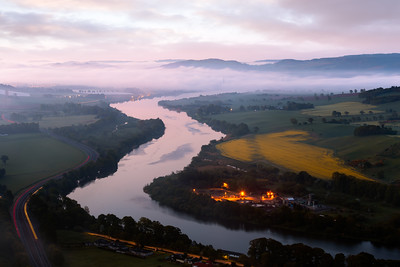 Sunrise, River Tay, Kinnoull Hill, Perth, Scotland