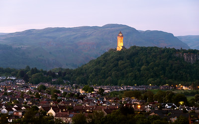Twlight, The National Wallace Monument, Stirling, Scotland