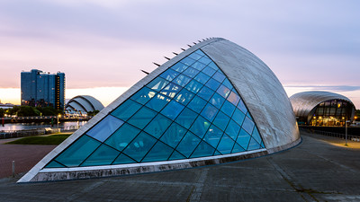 Sunrise, Glasgow Science Centre, Glasgow, Scotland