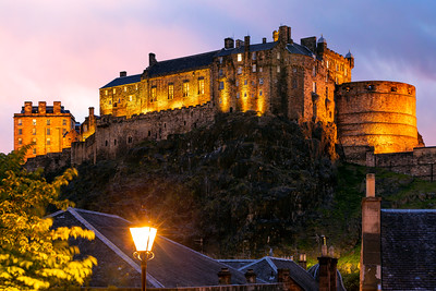 Sunset, Edinburgh Castle, Edinburgh, Scotland