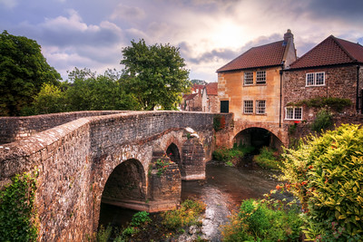 House on a bridge at Pensford, Somerset, England