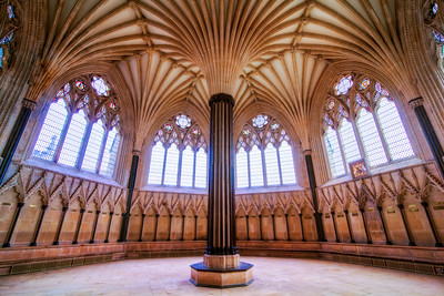 The Round Room at Wells Cathedral, Wells, Somerset, England